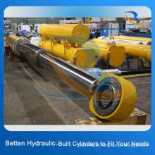 Cilindro telescópico hidráulico multiestágio para caminhão basculante / escavadeira / reboque