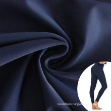 240gsm nylon 76 full dull smooth spandex 24 high elastic warp knitted leggings fabric