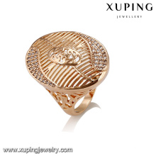 14425 Fashion jewelry copper alloy zircon ring, ladies 18k gold finger ring