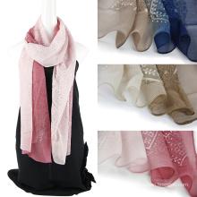 Écharpe en soie personnalisée femme Emboidery
