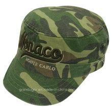 Camo lavó el sombrero del ejército con el logotipo de encargo de Cuba