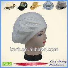 Angora y sombrero de lana / Boina de las muchachas hermosas de la boina del angora de las muchachas de la boina de las lanas del sombrero de la boina del angora de la boina de Angora de las muchachas, LSA47