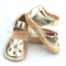 Kids toddler light PU baby shoe cool infant golden shoes