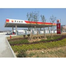 Gasolinera prefabricada con estructura de acero