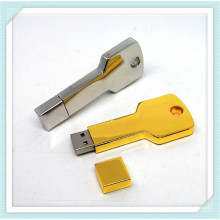Bunte Metall Schlüsselform USB Flash Drive mit Cap (EP043)