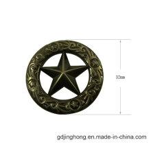 Round Shape Sticker Star Logo Metal Label Various Designs