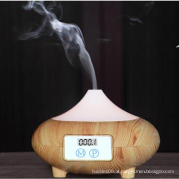 Umidificador fresco da névoa do difusor ultra-sônico de madeira novo do aroma da grão