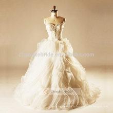 Robe de mariage en gâteau Robe de mariée en fleurs à fleurs 3D Luxe Robe de mariée en perl de luxe