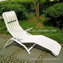 Outdoor chaise metal sling beach lounge chair