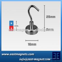 """Montagehaken Magnet, 16mm breit x 5mm dick (0,63 """"x 0,2"""")"""