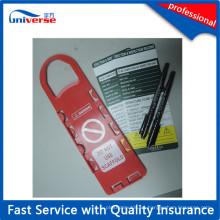 Etiqueta personalizada de la seguridad del andamio del color rojo de los PP de China
