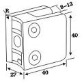 Edelstahl-Druckguss-Glasklemme für Handlauf-System (CR-052)