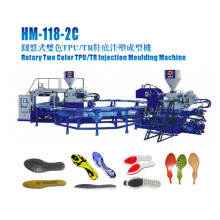 Machine d'injection pour fabriquer des chaussures uniques en deux couleurs