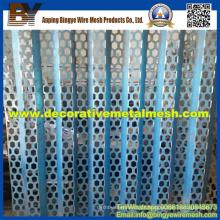 Malha de metal perfurada hexagonal para gabinetes de proteção