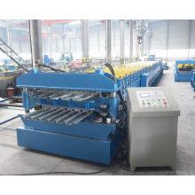 Piso de acero doble capa cubierta de rodillo que forma la máquina fábrica de galvanizado
