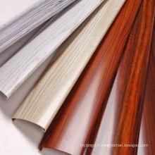 Construction de grain en bois de polissage Aluminium Profil de porte de fenêtre Profil en aluminium