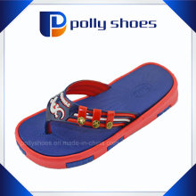 Wholesale Blue Heat Transfer Comfortable Kids Rubber Flip Flops