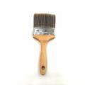 mini punho de cerdas de madeira pincel e pincel de pintura de cabelos longos