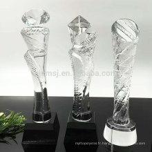 Wholesale haute qualité pas cher personnalisé trophée de prix en cristal