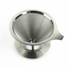2 Чашки 4 Чашки Двойной Стенкой Из Нержавеющей Стали Многоразовый Фильтр Для Кофе