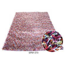 100 % 폴리 에스터 Viscose Shaggy Rug