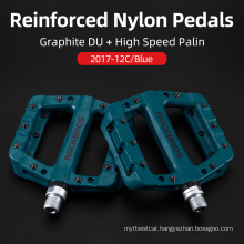 Bicycle Pedals Nylon Ultra-Light Mountain Bike Pedal 4 Colors Big Foot Road Bike Bearing Pedals Cycling Parts