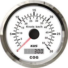 Good Quality! ! ! 85mm GPS Speedometer 0-30knots with Backlight White Faceplate