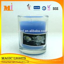 Recipientes de vidro de Wholesase mini para velas coloridas com alta qualidade