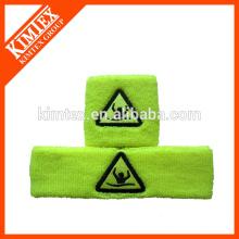 Venta caliente de algodón personalizado sweatbands no mínimo