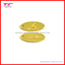 High Quality Gold Metal Jewellery Tag