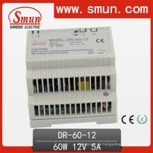 Fonte de alimentação do interruptor do trilho do RUÍDO 60W com CE RoHS garantia 2 de 12V / 24V48V do ano