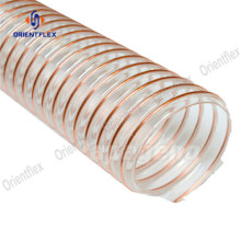 Non twist pu steel wire dust collection hose