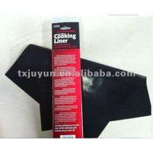 Teflón negro reutilizable hoja de cocina antiadherente / forro de hornear Aprobación de la FDA, libre de PFOA