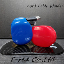 2014 latest cute automatic retractable earphone cord cable winder