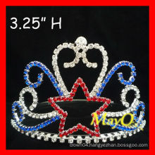 Small Rhinestone Star pageant tiara crown for kids