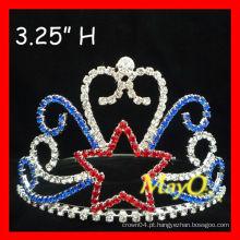 Estrela de diamante de strass pequena coroa de tiara de fantasia para crianças
