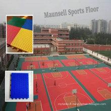 Intérieur \ Professionnel pas cher PP Interlocking Sports Flooring pour le terrain de basket