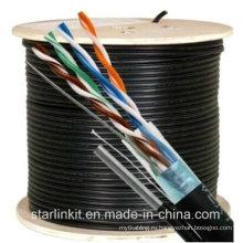 350 МГц Наружная водонепроницаемая UTP категория 5 кабель с Messenger