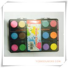 Bunte Werbe-Solid-Dry Aquarellfarbe Set für Promotion Geschenk (OI33007)