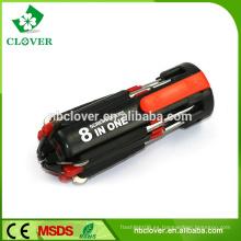 Más funcional de plástico 8 en 1 multi destornillador conjunto