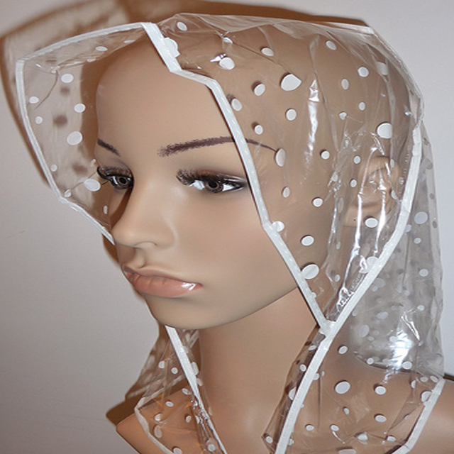Rain Hat With White Dots Printing