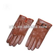 2014 nuevos guantes de ciclo de la venta caliente del estilo con cuero genuino