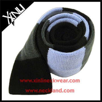 Slim Wool Knit Tie