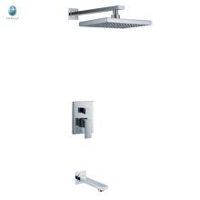 KI-06 nuevo producto cabeza cuadrada ducha superficie montada accesorios de baño oculto mezclador de la ducha