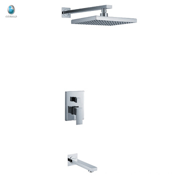 KI-06 new product square head shower surface mounted bathroom accessories hidden shower mixer