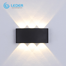 LEDER 3W Simple&Pure Black LED Indoor Wall Light