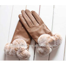 women fashion dress leather gloves