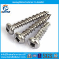 Stainless steel square slotted round head self tapping/self drilling screw