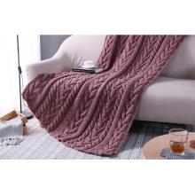 Neue Design Komfortable Kabel Chunky Handgestrickte Wolle Werfen Decken