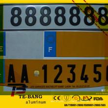 Сублимационная алюминиевая лицензионная табличка пустая